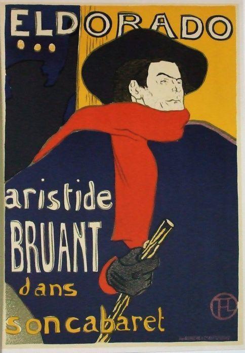 Aristide Bruant dans son cabaret. Eldorado.: Toulouse-Lautrec, Henri de