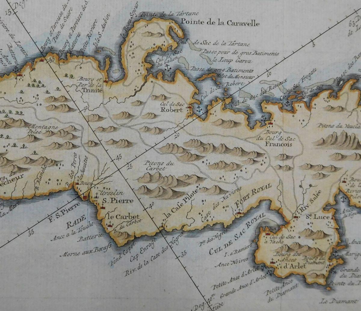 Karte Von Martinique Kleine Antillen Karibik Von Carte De L