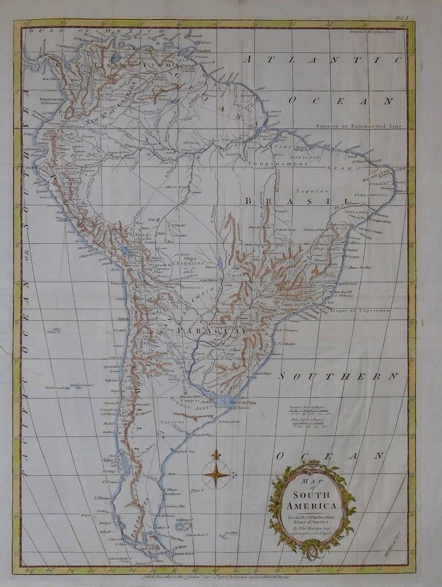 Karte von Südamerika. Map of South America. [ ] (bi_22832337540) photo