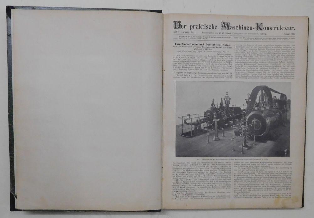 Der praktische Maschinen-Konstrukteur. (Maschinenkonstrukteur). XXXVI. (36.) Jahrgang: Uhland, W. H.
