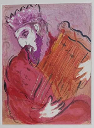 David mit der Harfe.: Chagall, Marc