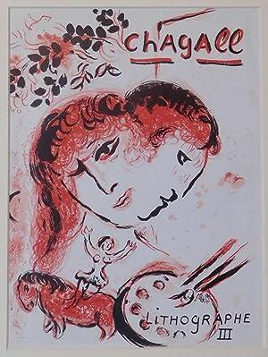 Umschlag zu Lithographe III. (Paar, Malerpalette und: Chagall, Marc