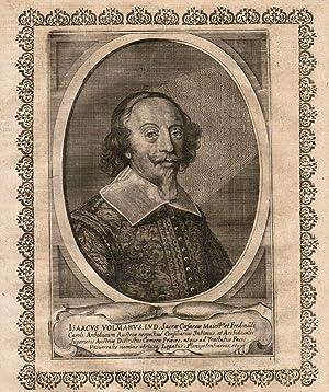 Isaacus Volmarus I. V. D. etc. Halbporträt: Isaak Volmar, Baron