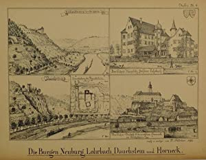 Die Burgen Neuburg, Lohrbach, Dauchstein und Horneck.: Obrigheim