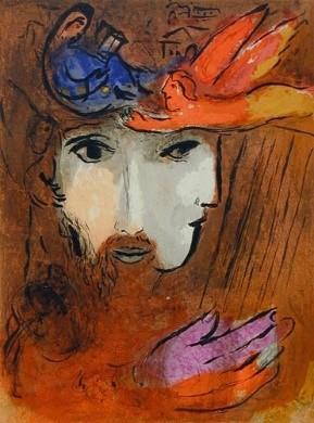 David und Bathseba.: Chagall, Marc