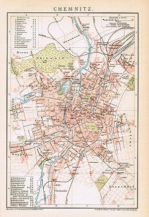 Karte Chemnitz.Stadtplan Chemnitz Karten Kunst Grafik Poster Zvab