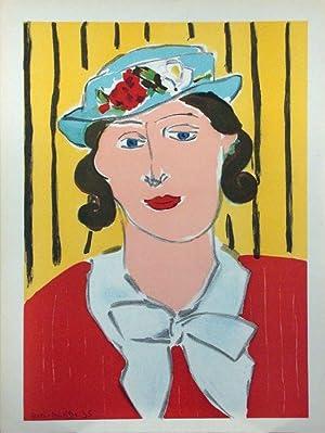 Portrait d` une femme. Frau mit Hut: Matisse, Henri