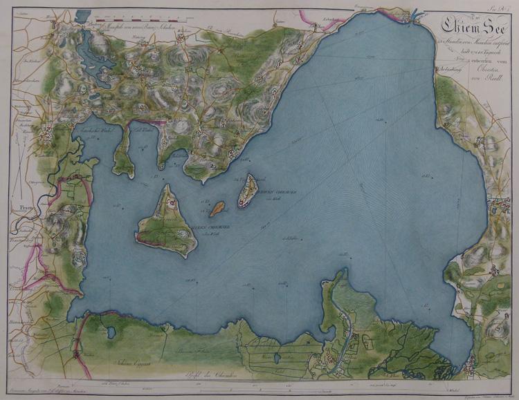 Der Chiem See. 23 Stunden von München entfernt, hält 27248 Tagwerk entworfen vom Obersten...