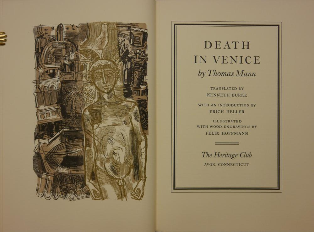 Death in Venice. Translated by Kenneth Burke.: Mann, Thomas.