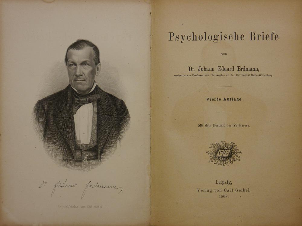 Psychologische Briefe.: Erdmann, Johann Eduard.