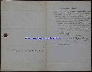 Eigenhändiger Brief mit Unterschrift. In französischer Sprache. Eine Seite.: Meyerbeer, ...