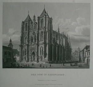 Die Dom zu Regensburg. Dom mit umliegenden Gebäuden.