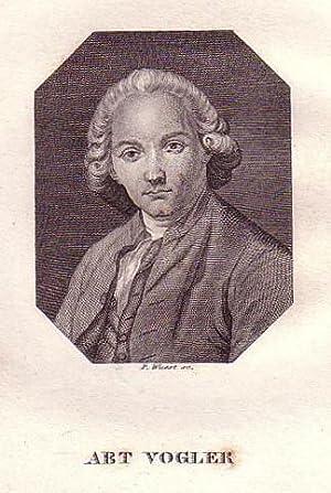 Brustbild im Achteck. Bezeichnung unterhalb der Darstellung: ABT VOGLER.: Vogler, Georg Joseph (...