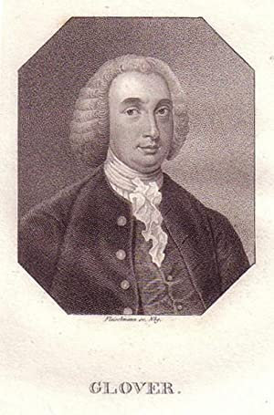 Brustbild im Achteck. Bezeichnung unterhalb der Darstellung: GLOVER.: Glover, Richard.
