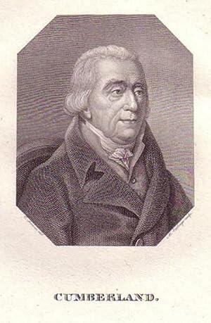 Brustbild im Achteck. Bezeichnung unterhalb der Darstellung: CUMBERLAND.: Cumberland, Wilhelm ...