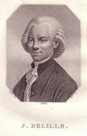 Brustbild im Achteck. Bezeichnung unterhalb der Darstellung: J. DELILLE.: Delille, Jacques.