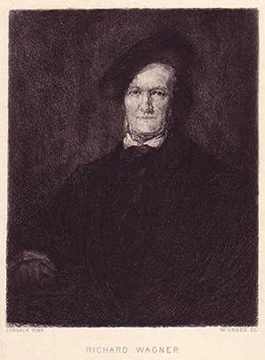 Halbfigur. Original-Radierung von William Unger (1837 bis 1892, Thieme/Becker XXXIII, 575) ...