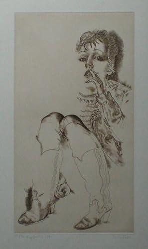 Punk-Lady. Original-Kupferstich von Tony Torrilhon, 1981.: Torrilhon, Tony.