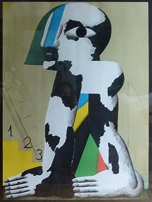 Schwarz-weiß-gefleckte Figur.: Antes, Horst.