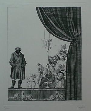 Ohne Titel. Original-Kupferstich von Jürgen Czaschka, ohne Jahr (ca. 1995).: Czaschka, Jürgen.