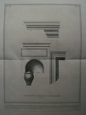 Questa Tavola contiene le parti in grande ornamenti della Camera sepolcrate de'Liberti e Servi...