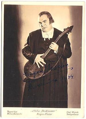 Original-Fotografie von Werner Weirich. Mit eigenhändiger Signatur und Datierung von Eugen ...