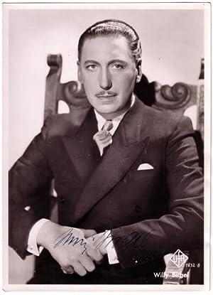 Original-Fotografie (ca. 1940). Von Willy Birgel auf der Bildseite eigenhändig mit ...