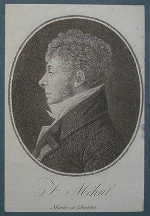 Brustbild im Oval (Profil nach links). Bezeichnung unterhalb der Darstellung: J. Méhul. ...