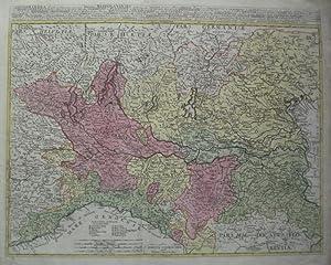 Longobardia Divisa in status suos, qui sunt: Ducatus Mediolanensis . Ex Relationeibus et ...