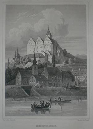 Mainberg. Ansicht mit Schloss.