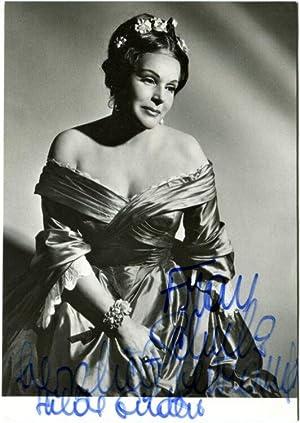 Original-Fotografie von Ilse Buhs, Berlin. Eigenhändige Signatur und Widmung von Hilde Gü...