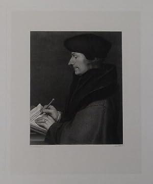 Brustbild im Profil nach links.: Erasmus von Rotterdam.