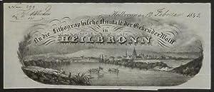 Gesamtansicht von Heilbronn mit beiden Seiten des Neckars, im Hintergrund der Wartberg, vorn in der...