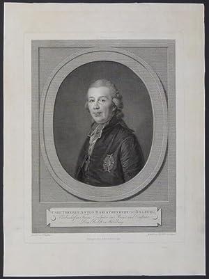 Brustbild im Oval. Unterhalb der Darstellung: Carl Theodor Anton Maria Freyherr von Dalberg, ...