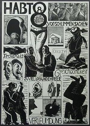 Habt 8 vor schlimmen Sachen. Original-Acrylstiche von Christa Jahr.: Jahr, Christa.