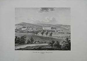 """Ansicht des Schloßes Butczowitz in Mähren"""". Gesamtansicht von Schloß und Ort ..."""
