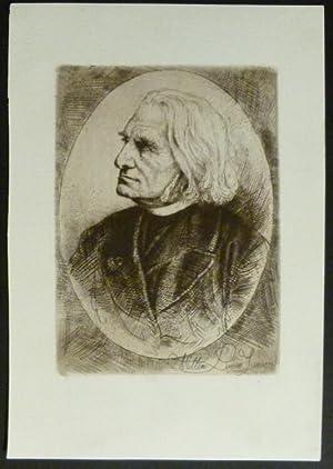 Brustbild nach dreiviertellinks.: Liszt, Franz.
