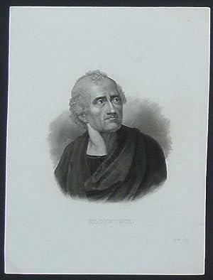 Brustbild nach halbrechts. Bezeichnung unterhalb der Darstellung: KLOPSTOCK.: Klopstock, Friedrich ...