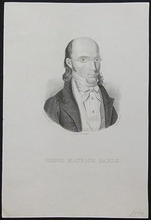 Brustbild nach halbrechts. Unterhalb der Darstellung: HENRI MAURICE GAEDE.: Gäde, Heinrich Moritz.