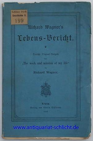 """Lebens-Bericht. Deutsche Original-Ausgabe von """"The works and mission of my life"""" by ..."""