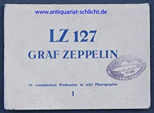LZ 127 GRAF ZEPPELIN. 10 verschiedene Postkarten in echt Photgraphie. I.