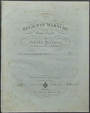Beliebte Märsche für das Piano-Forte von Johann: Strauss, Johann (Vater).
