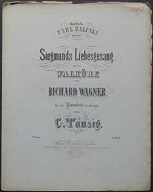 Siegmunds Liebesgesang aus der Walküre von Richard Wagner für das Pianoforte frei ü...