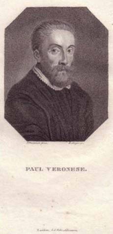 Brustbild im Achteck. Bezeichnung unterhalb der Darstellung: PAUL VERONESE.: Veronese, Paolo.