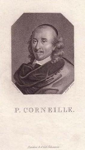 Brustbild im Achteck. Bezeichnung unterhalb der Darstellung: P. CORNEILLE.: Corneille, Pierre.