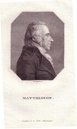 Brustbild im Achteck. Bezeichnung unterhalb der Darstellung: MATTHISSON.: Matthisson, Friedrich von...