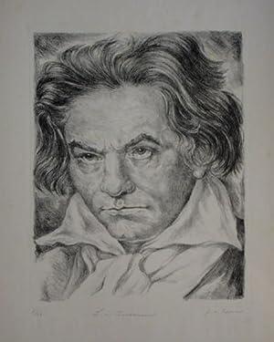 Portrait en face.: Beethoven, Ludwig van.