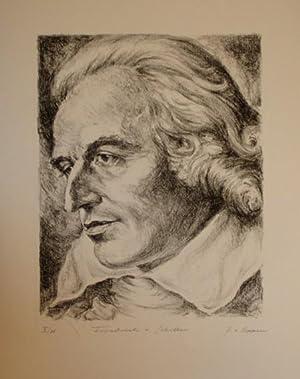 Portrait nach halblinks.: Schiller, Friedrich von.