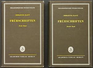 Frühschriften. Erster Band: Schriften aus den Jahren 1754-1759. Zweiter Band: Schriften aus ...
