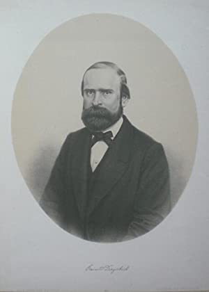 Halbfigur en face im Oval. Mit faksimilierter Unterschrift unterhalb der Darstellung.: Dreyschock, ...